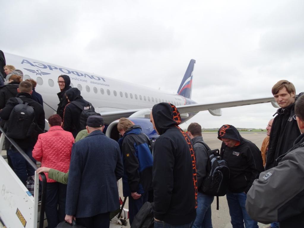 mit der Aeroflot nach Moskau